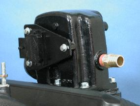 View of ignition module mounted on the riser