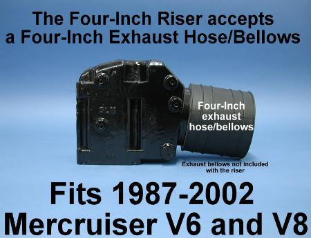 Three inch riser elbow hose dimension