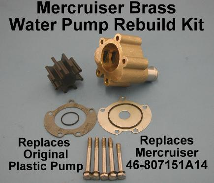 Brass water pump rebuild kit