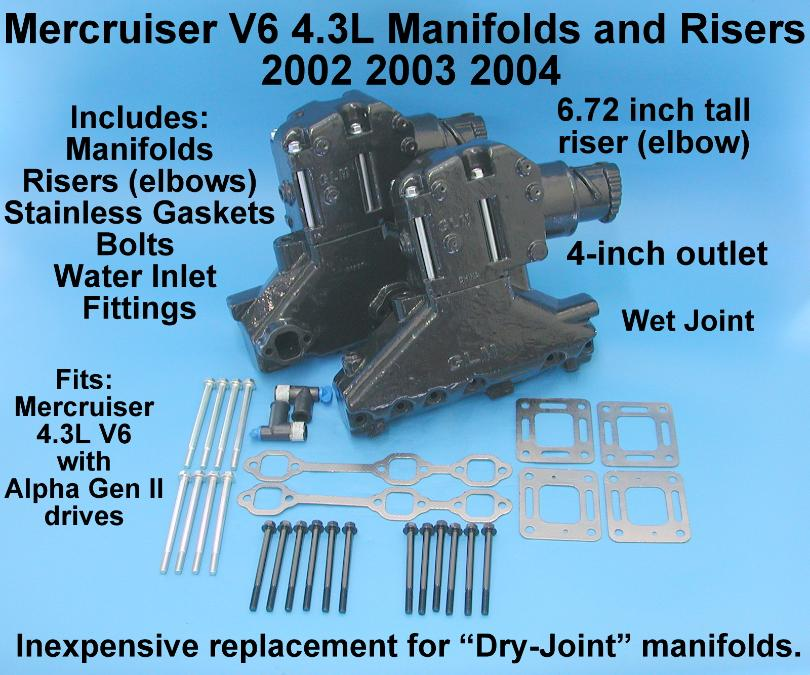 Mercruiser V6 conversion kit 2002-2004