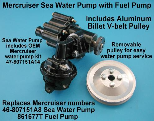 MERCRUISER SEAWATER RAW WATER PUMP 46-807151 818383 861677 18365