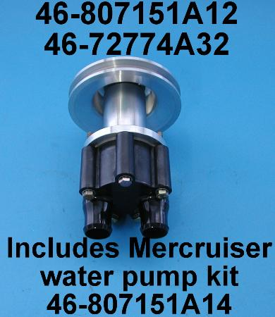 Billet Sea Water pump w Merc OEM pump