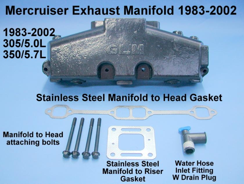 Mercruiser exhaust manifold chevy V8 305 350
