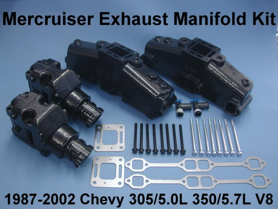 Mercruiser manifold and riser kit w gaskets and bolts