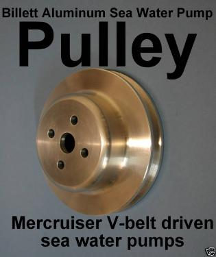 Billet aluminum pulley