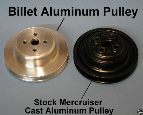 comparison of billet and OEM pulley