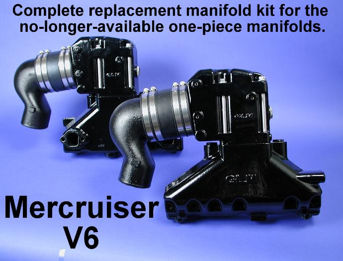 Mercruiser two-piece replacement manifold kit
